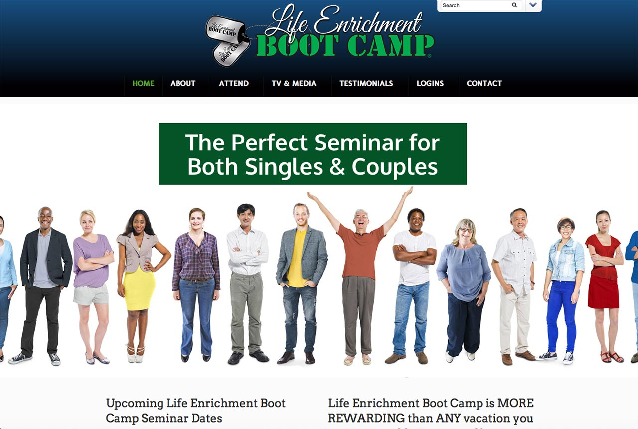 A New Website for Life Enrichment Boot Camp