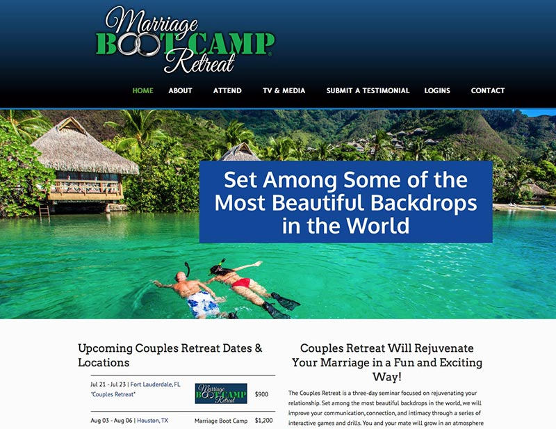 Marriage Boot Camp Retreat Site Launched
